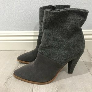 matiko heeled ankle boots from anthropologie